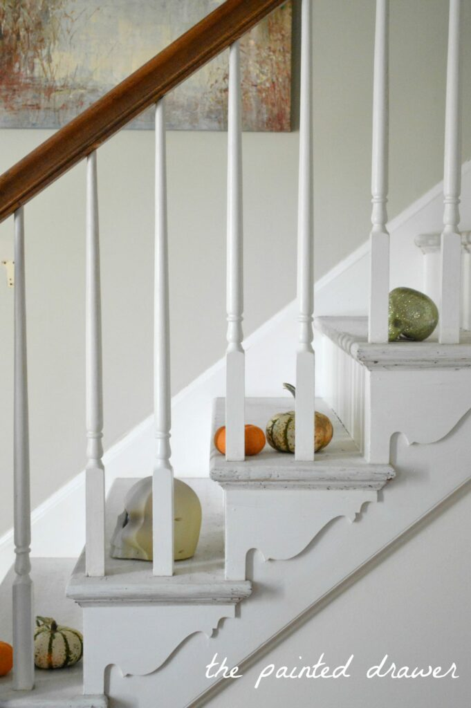 Painted Stairs A Foyer For Fall And Painted Stairs Update Suzanne Bagheri