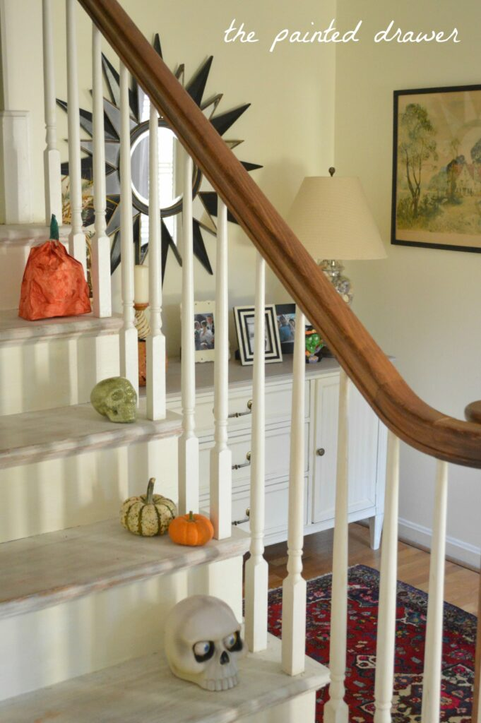 Painting Foyer Stairs : A foyer for fall and painted stairs update