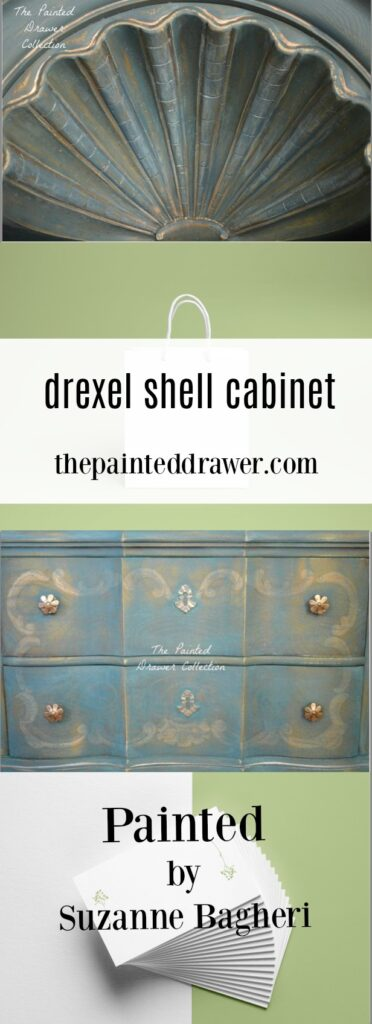 Drexel Shell Cabinet Before and After