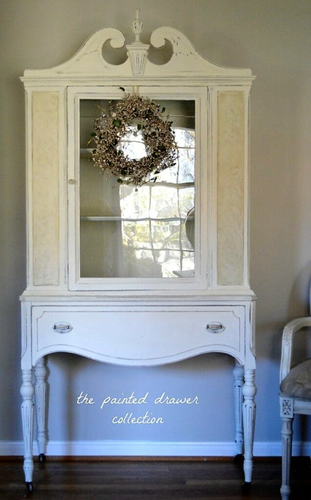 Dreamy in White China Cabinet