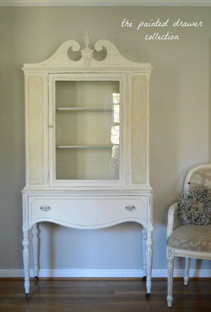 Dreamy in White – Cottage Cabinet Before & After