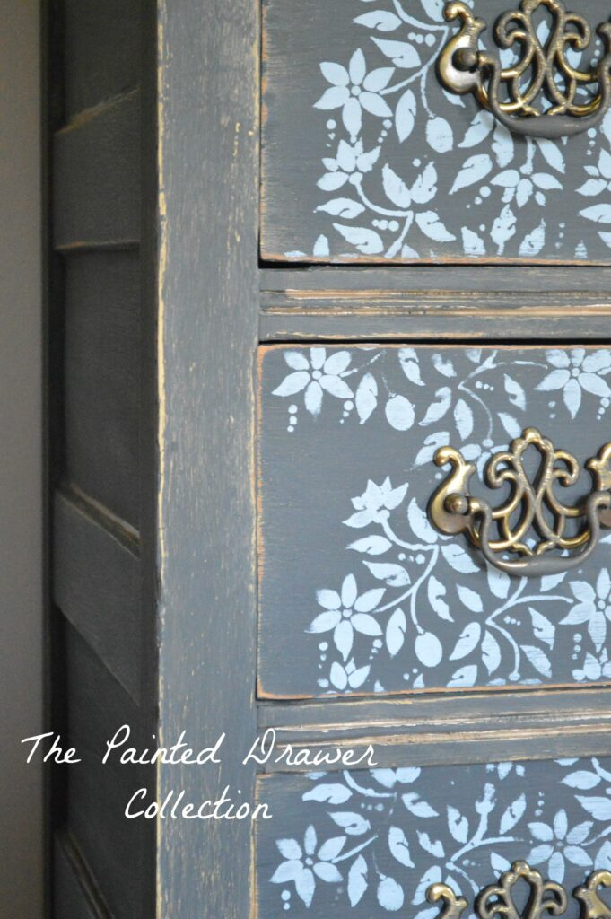 farmhouse stenciled dresser
