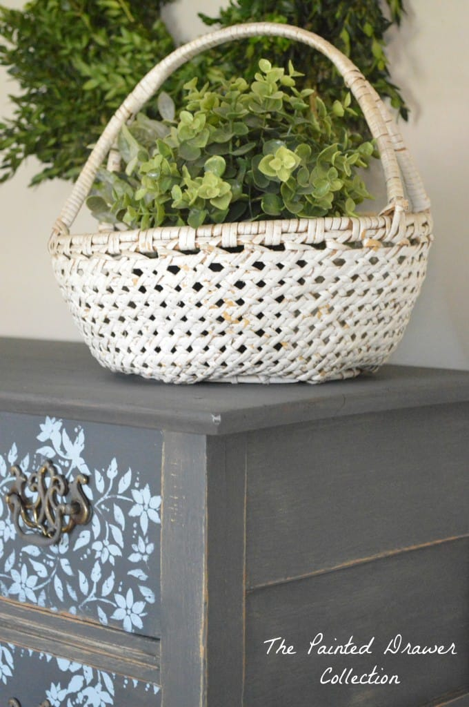 Vintage White Basket