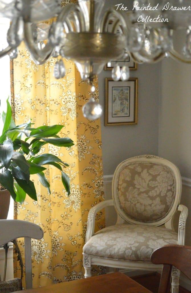 Dining Room Mustard Curtains
