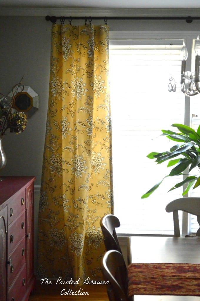 Mustard curtains www.thepainteddrawer.com