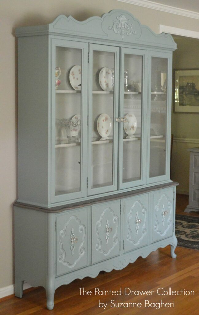 Bassett China Cabinet in Persian Blue