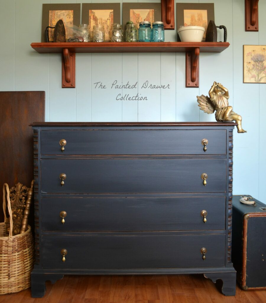 Vintage Chest in Black Reveal & General Finishes Chalk Style Paint Full Review