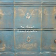 Painted Drawer in Annie Sloan Aubusson over Provence and Florence