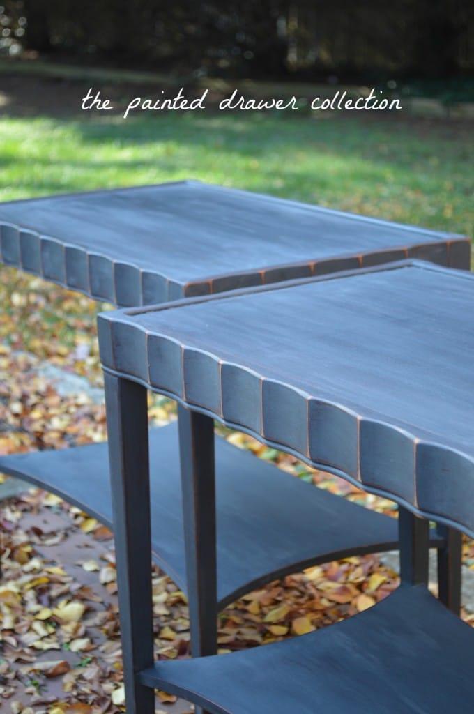 annie sloan graphite tables