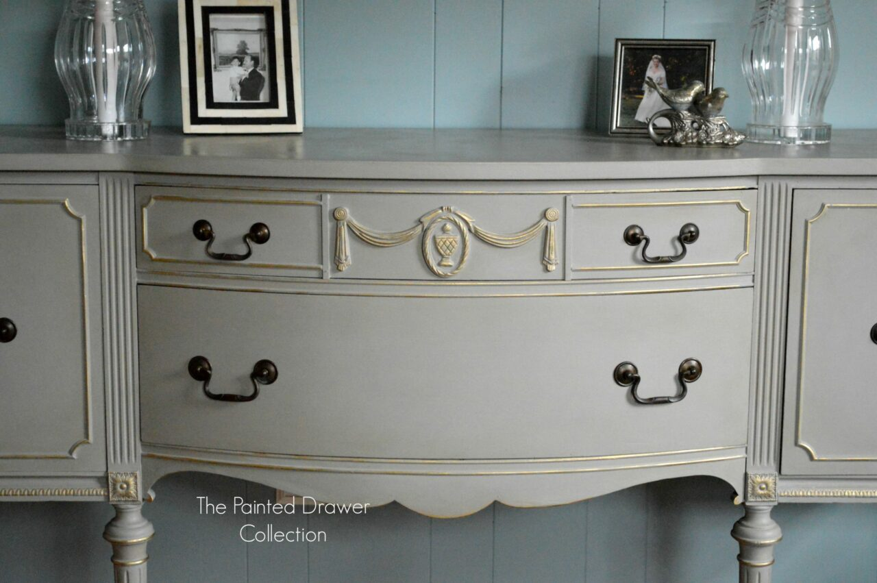 Annie Sloan French Linen and Gold Sideboard