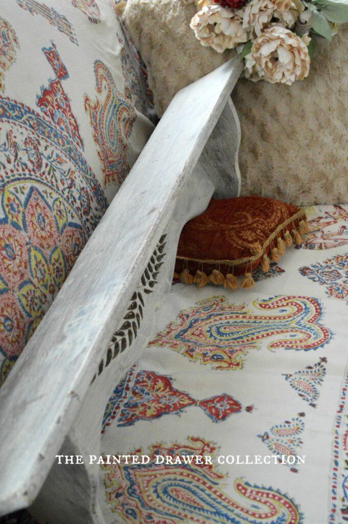 Shelf in a wash of Annie Sloan Old Ochre chalk paint
