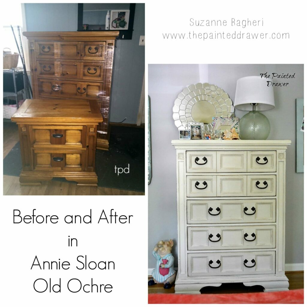 Before and After Old Ochre Bedroom Set