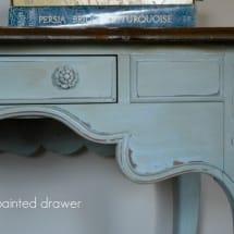 Blue Desk in annie sloan provence www.thepainteddrawer.com