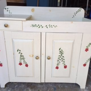painted dry sink www.thepainteddrawer.com