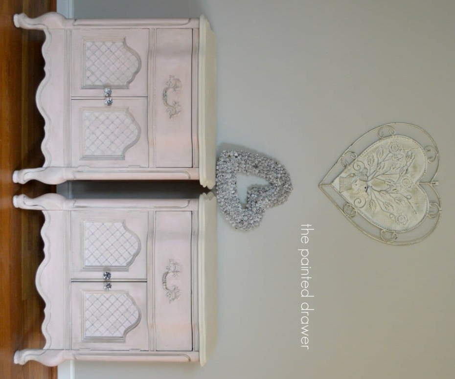 Pink French Nightstands