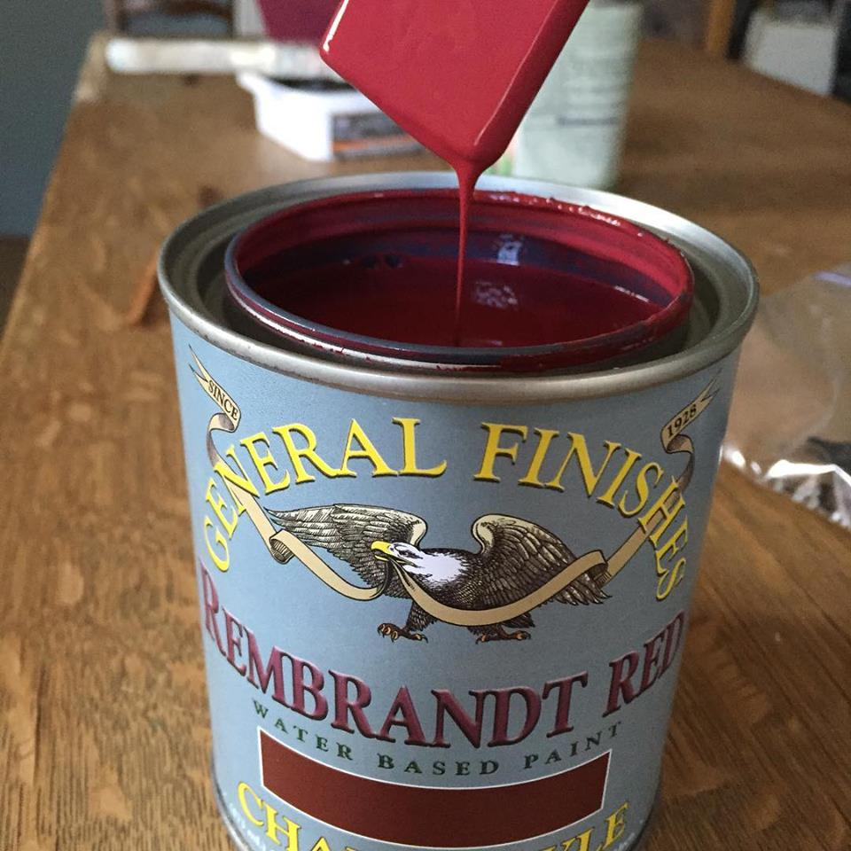 Rembrandt Red Chalk Style Paint by General Finishes www.thepainteddrawer.com
