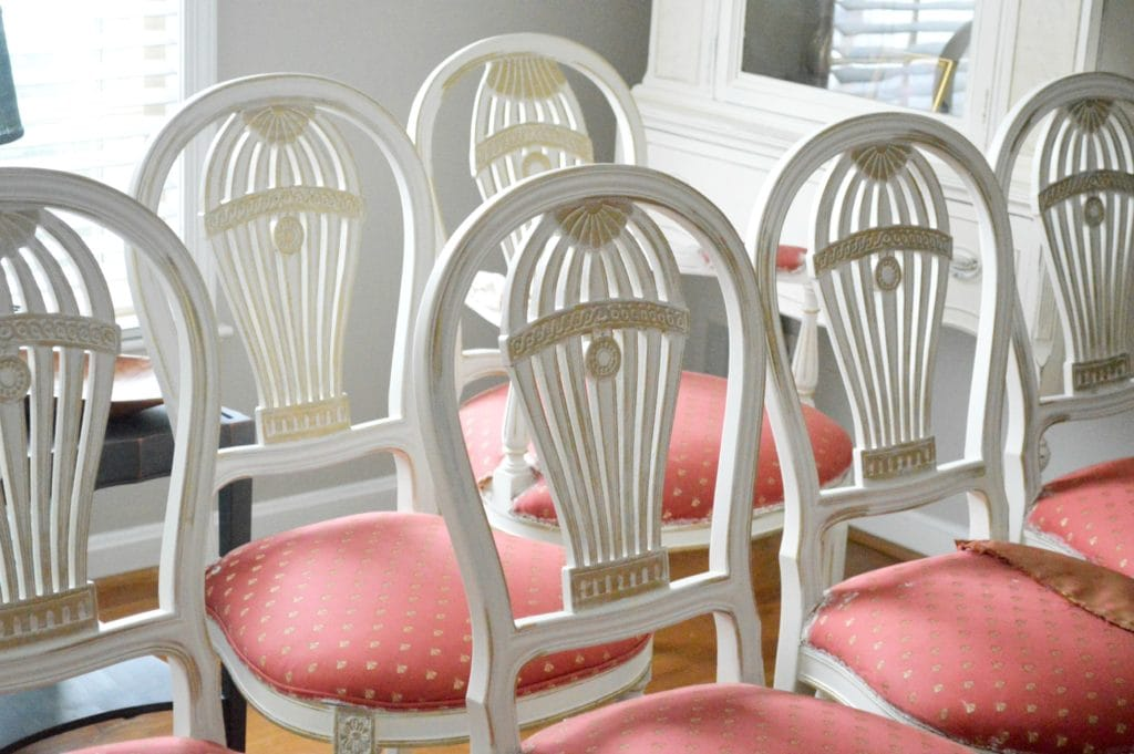 White And Gold Dining Chairs: Antique White And Gold Dining Chairs