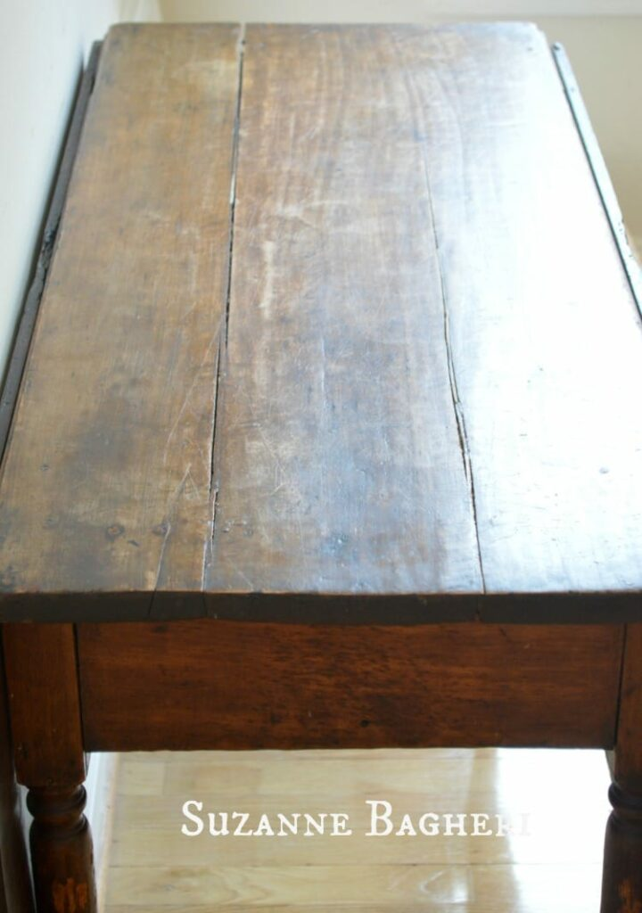 Antique Gateleg Table, vintage dropleaf table