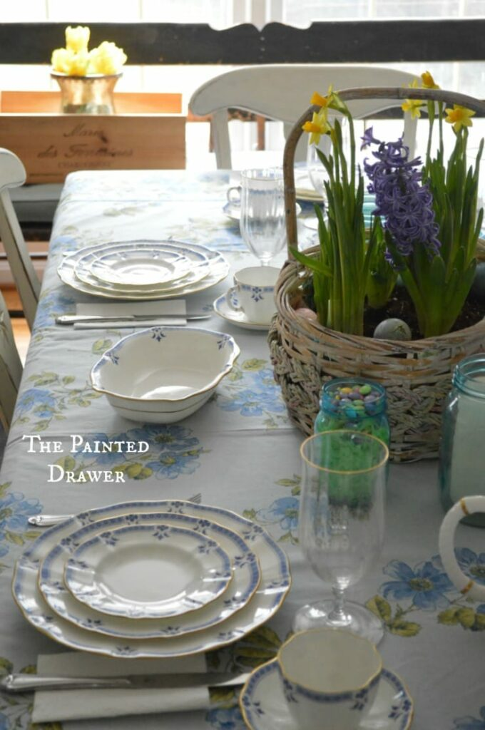 Easter Dining Room with Royal Crown Derby China in Grenville