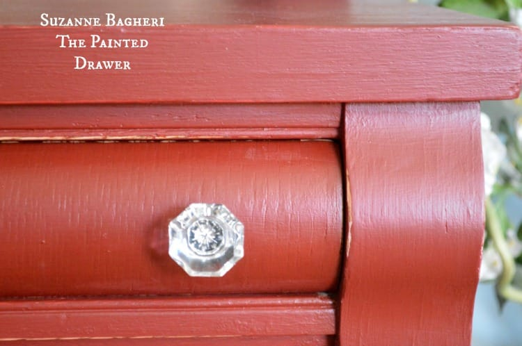 Painted Drawer in General Finishes Rembrandt Red chalk style paint by Suzanne Bagheri