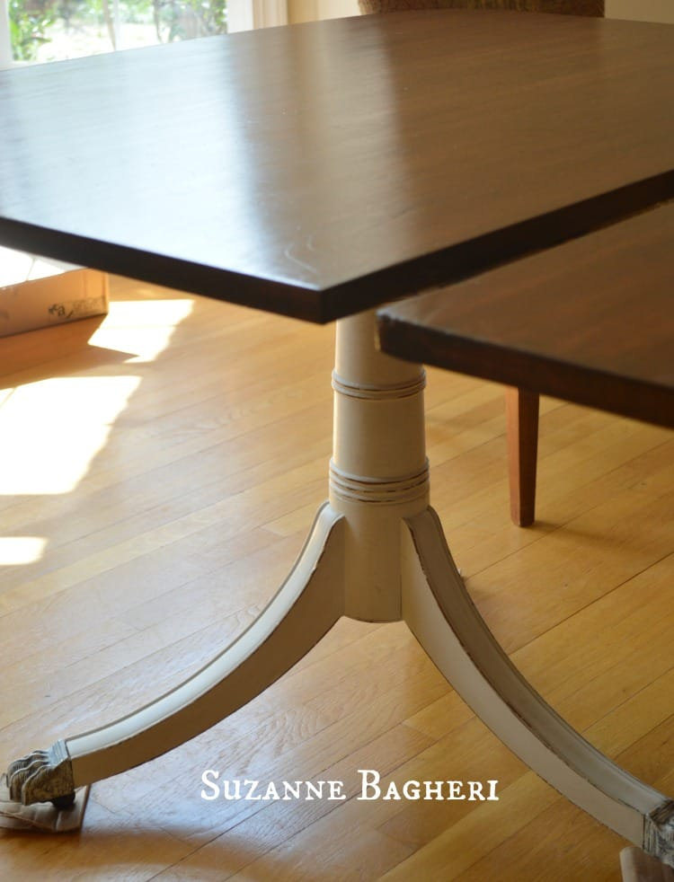 Table Top Refinished in General Finishes Java Gel Stain with GF Wipe On Urethane