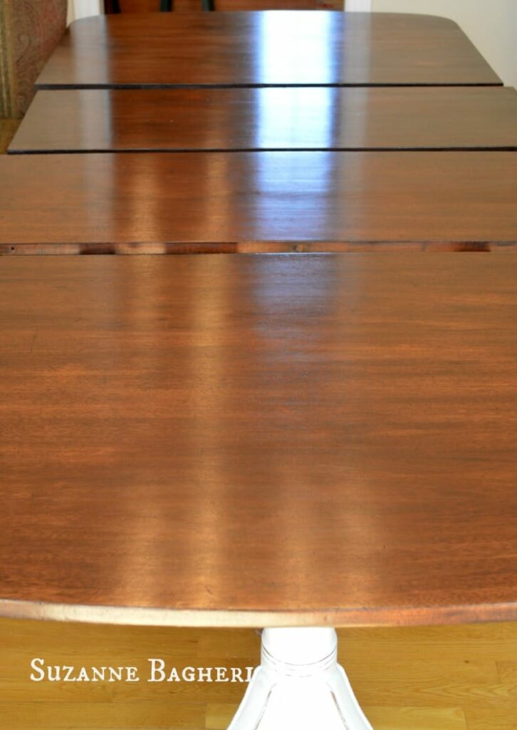 Table top finished in General Finishs Java Gel Stain and Wipe On Urethane