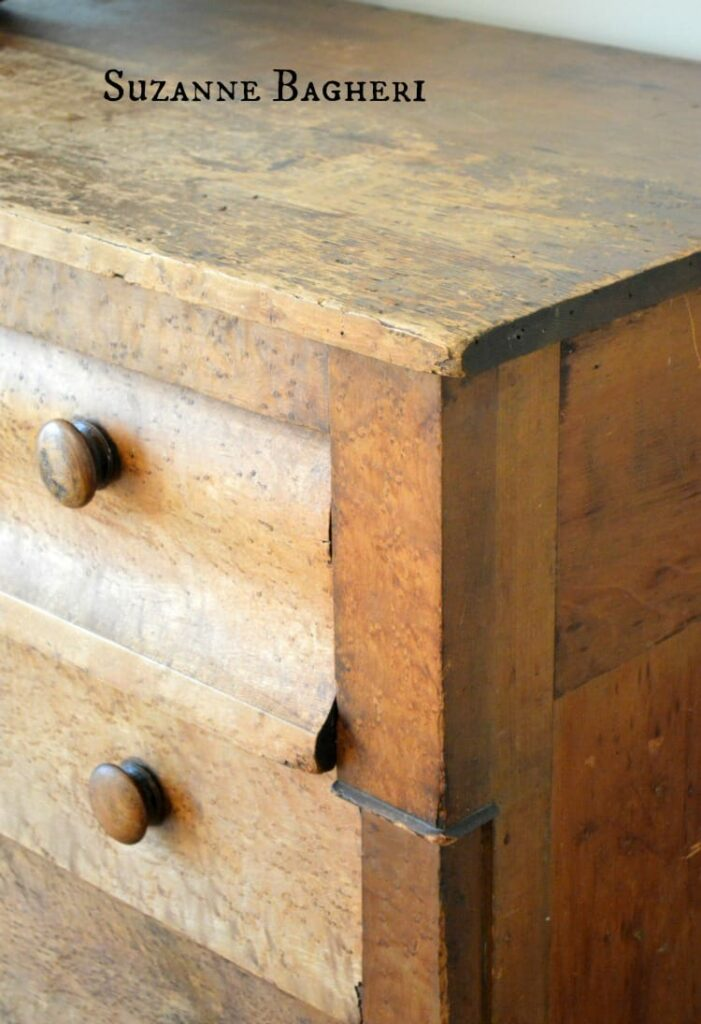 Vintage Chest, gold toned wood, empire chest