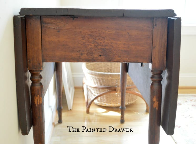 Vintage DropLeaf Table, antique gateleg table