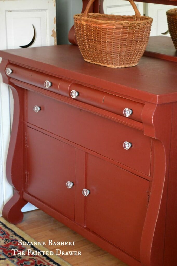 Vintage Empire Chest painted in chalk paint by Suzanne Bagheri