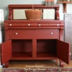 Vintage Empire Chest painted in red by Suzanne Bagheri