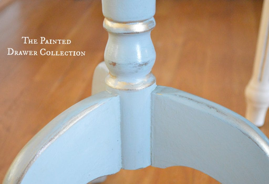 Painted Table in General Finishes milk paint Persian Blue