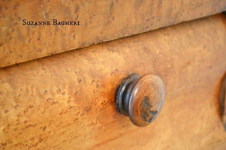 Vintage Wooden Knob, vintage pull, wooden dresser, antique dresser