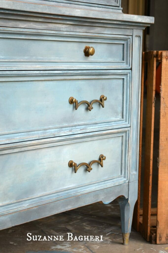 Armoire Painted in mix of Annie Sloan Chalk Paint colors by The Painted Drawer