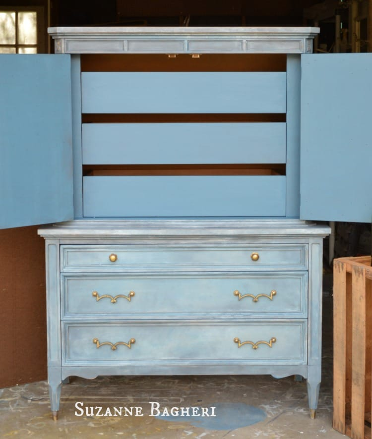 Aubusson Armoire by Suzanne Bagheri in mix of Annie Sloan Chalk Paint, The Painted Drawer