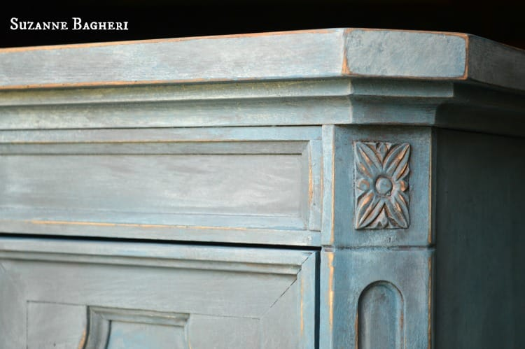 Aubusson Armoire Chalk Paint Mix Before And After