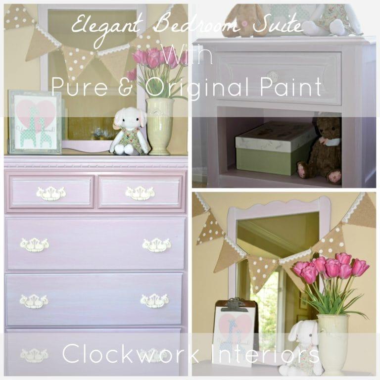 pale pink bedroom set