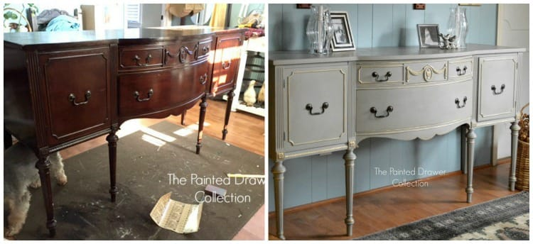 French Gray Sideboard