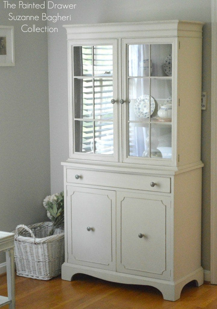 Griege and Persimmon Cabinet