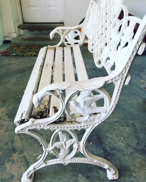 FFM – A Very Decorative Cast Iron Garden Bench
