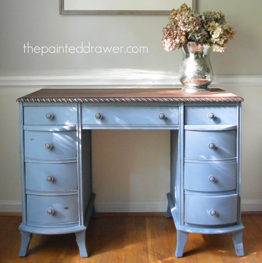 Old Violet Vintage Desk