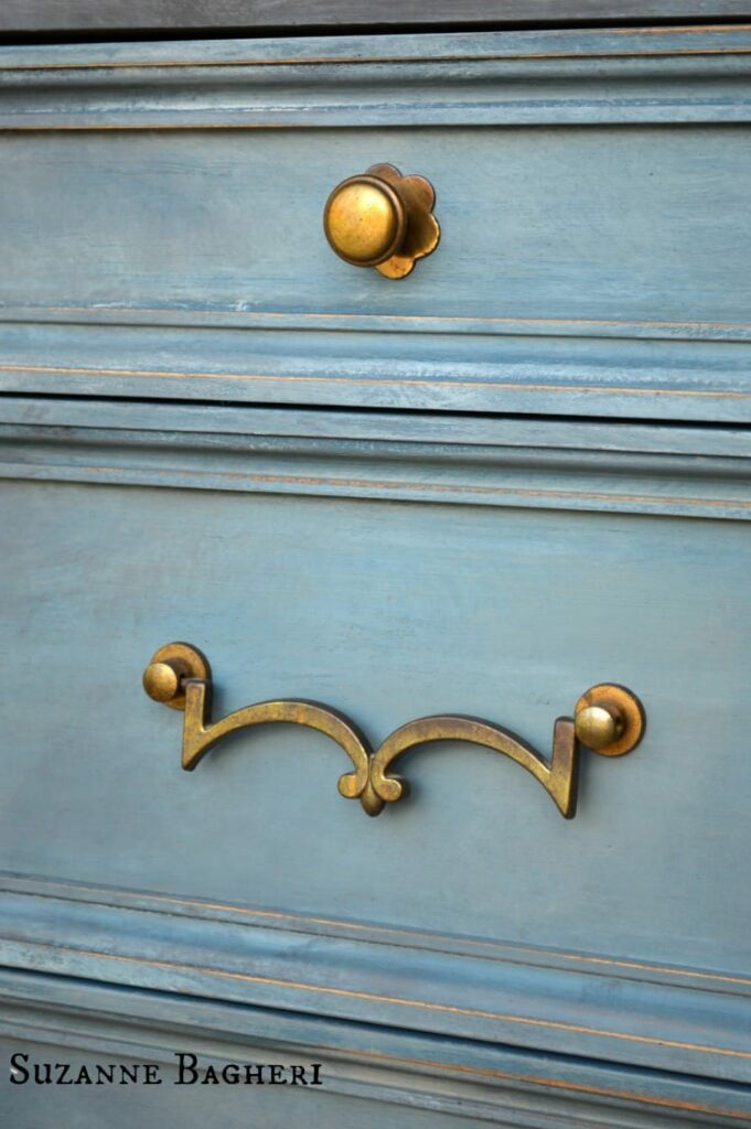 Painted Armoire Painted Drawer by Suzanne Bagheri