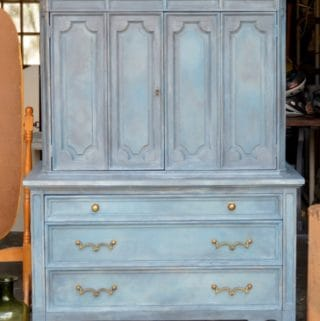 Painted Armoire in Annie Sloan Chalk Paint