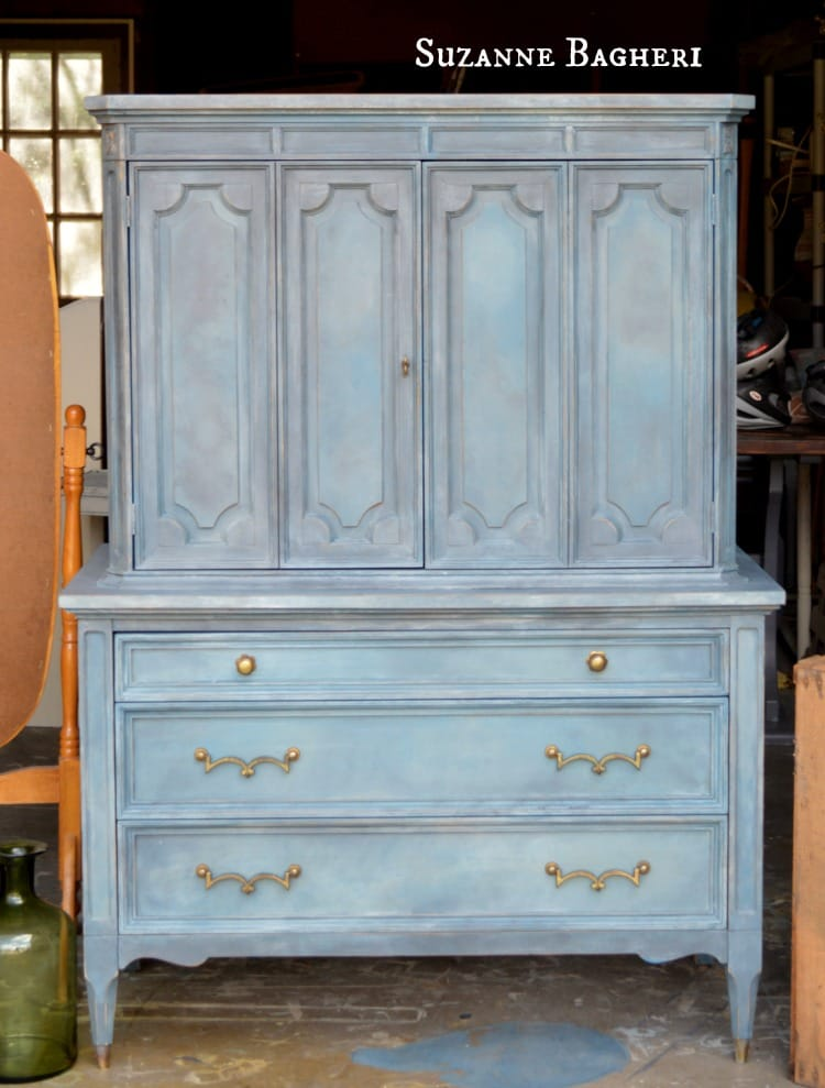 Painted Armoire in Annie Sloan Chalk Paint Mix by Suzanne Bagheri