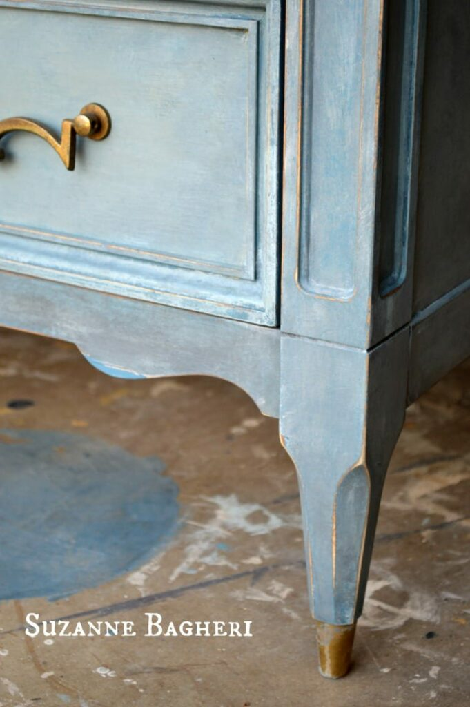 Painted Armoire in Annie Sloan Color Mix by Suzanne Bagheri of The Painted Drawer