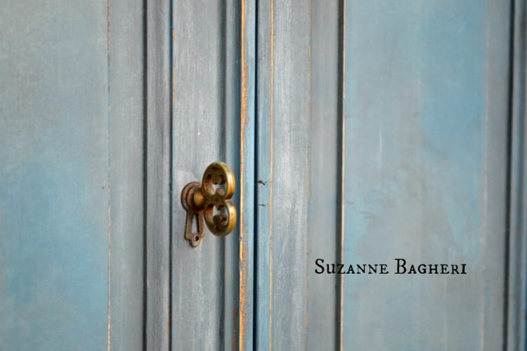 Painted Armoire in Aubusson Mix of Annie Sloan Chalk Paint by Suzanne Bagheri