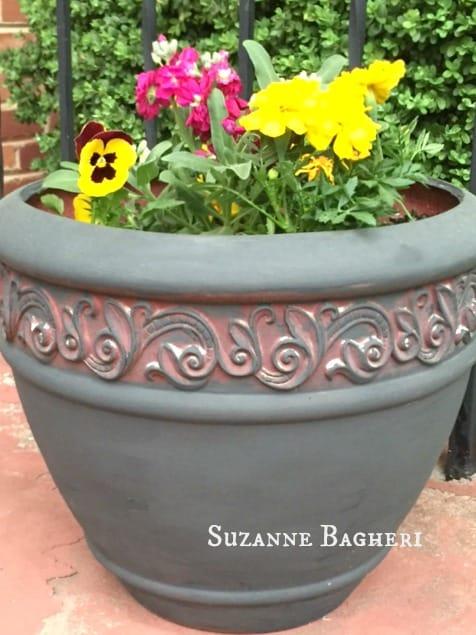 Painted Flower Pot2
