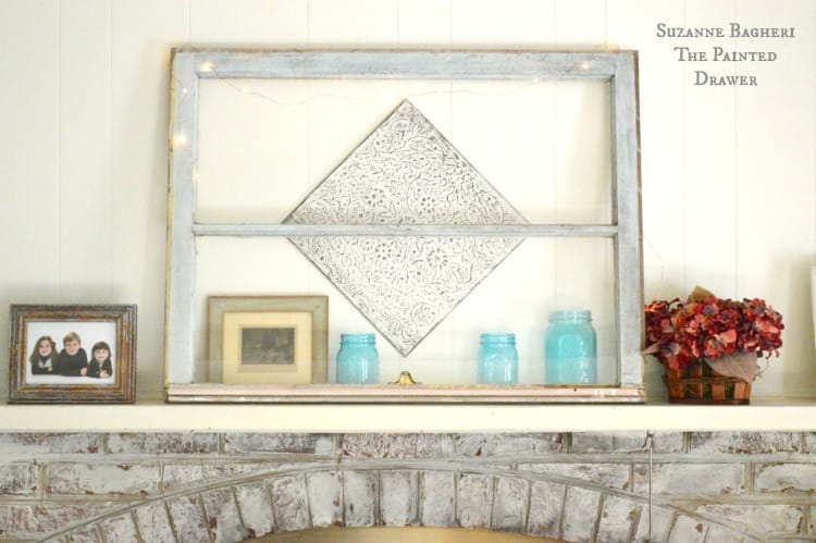 Summer Mantel, blue and white mantel