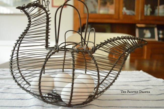 Rooster Wire Egg Basket