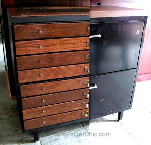 Filing Cabinet Scavenger Chic, The Painted Drawer Link Party