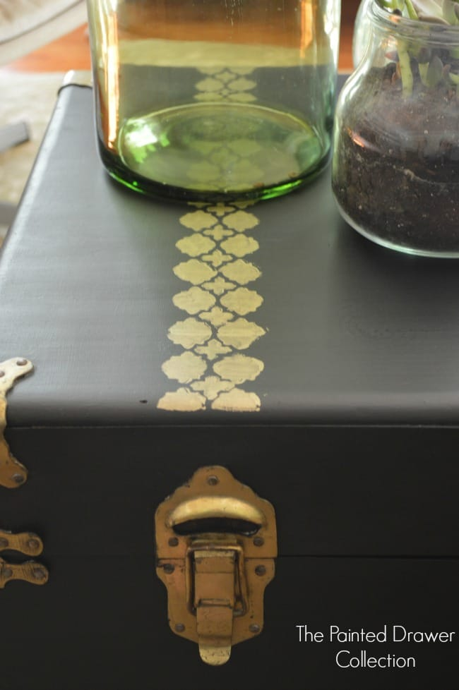 Cedar Chest in Black and Brass